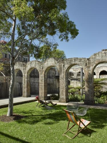 man relaxing at Paddington Reservoir