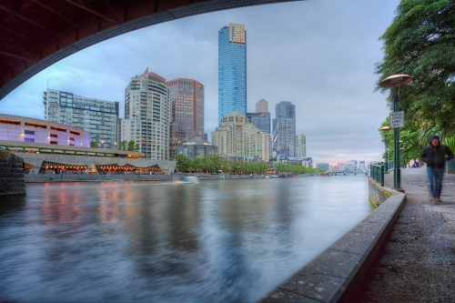 Melbourne Yarra River skyline
