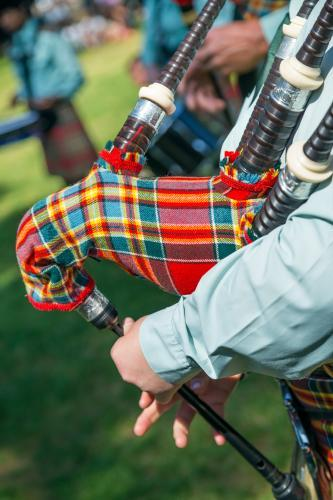 Bagpipes being played