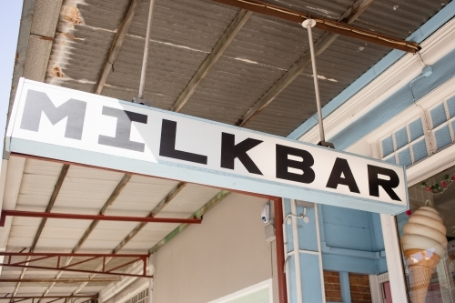 Milkbar sign
