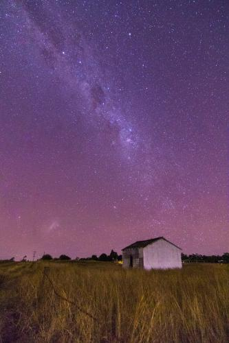 Milky Way over Farm Shed