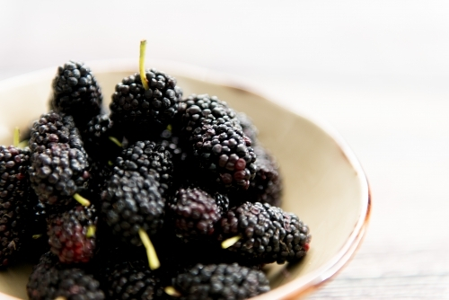 Mulberries In A Bowl