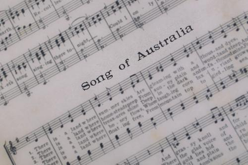 Music sheet for Song of Australia