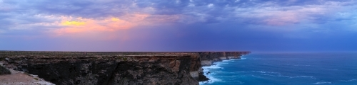 Sunset over the Nullarbor Plain and the Great Australian Bight