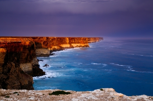 The Nullarbor Cliffs and Great Australian Bight.