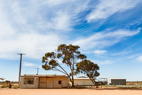 Old buildings in Kingoonya, outback South Australia