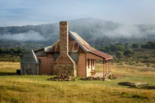 Old country homestead from 1870's in  rural Australia.  The home had later additions in the 1900's