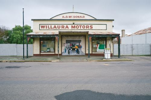 old garage with original facade in regional Victoria