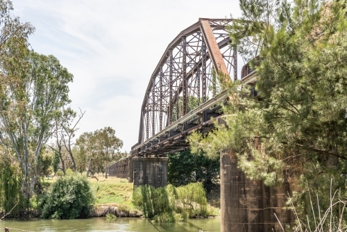 Old railway bridge in Gundagai, NSW