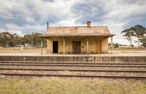 Old Train Station looking across the tracks to the platform and building