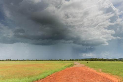 Road to an outback storm