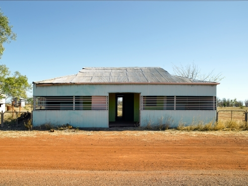 Deserted shed in outback location