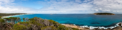 Panoramic view of Southern Ocean Coast line from Great Ocean Drive