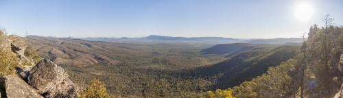 Panormaic view of the Grampians / Gariwerd