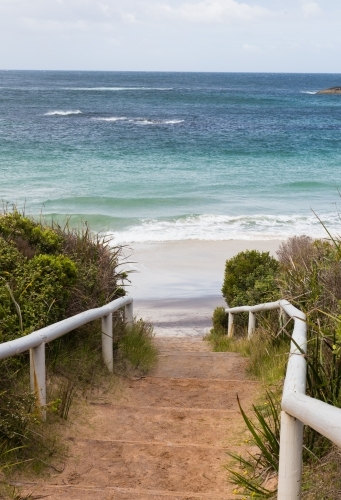 Path leading to waterfall beach, william bay national park, great southern ocean