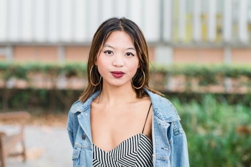 Pretty asian woman in costume