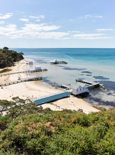 Private jetties & boat sheds from coastal walkways