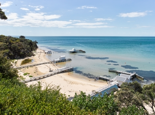 Private jettys & boatsheds from coastal walkway