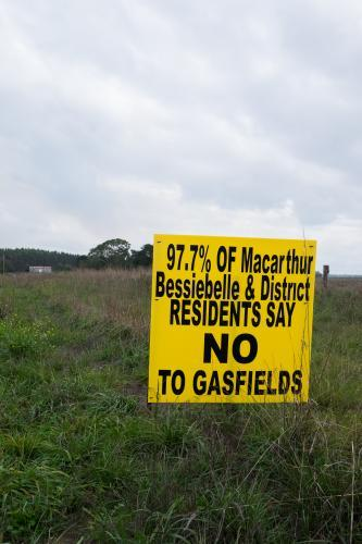 Protest sign against Coal Seam Gas Mining