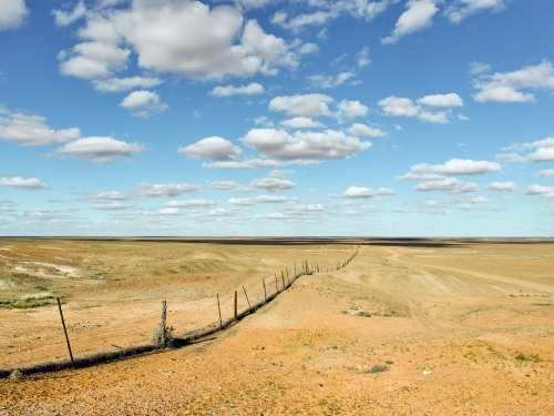 Rabbit proof fence in outback South Australia