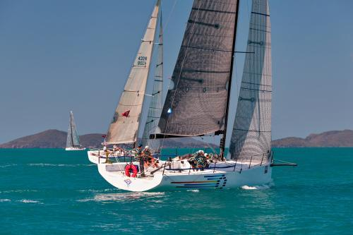 Racing yacht on turquoise water at Hamilton Island Race Week