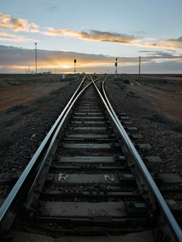 Rail line in outback