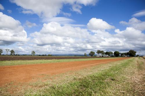 Red dirt track in rural Austraia