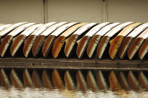 Row Boats lined up