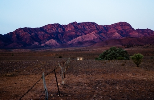rugged ranges at dusk