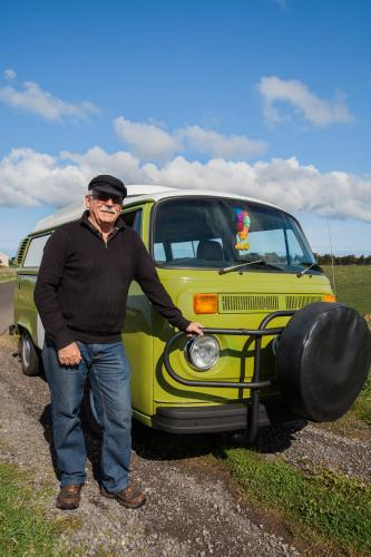 Senior with his campervan