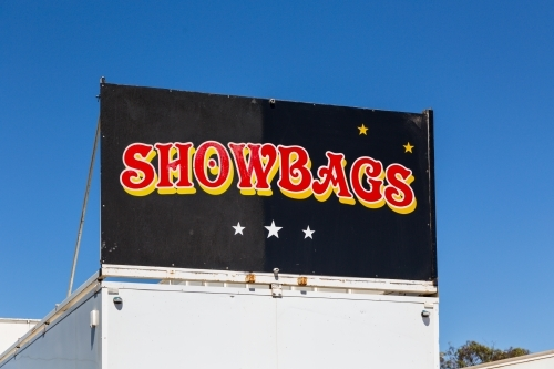 Showbags sign at country show