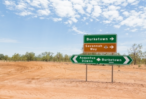 Road sign outback Queensland Savannah Way