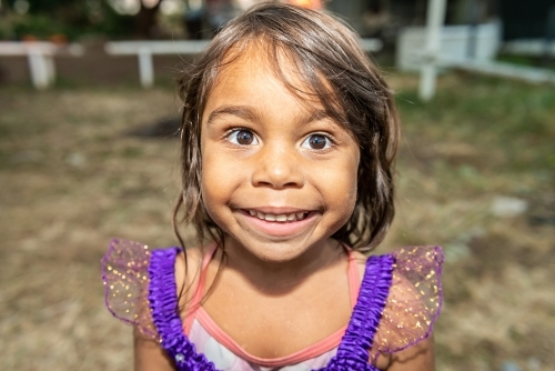 Smiling aboriginal girl