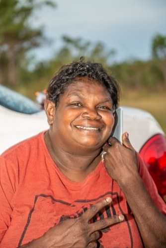 Smiling Aboriginal woman