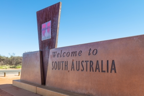 South Australian border