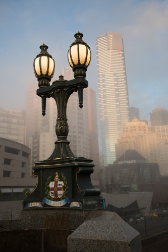 Southbank Melbourne on a Foggy Winter Morning