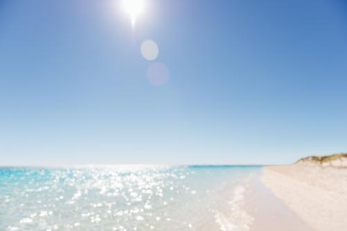 Sparkling clear blue water of the Indian Ocean on the Ningaloo Coast