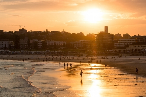 Summer sunset over Bondi Beach