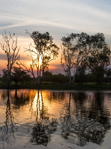 sunset on yellow water, kakadu