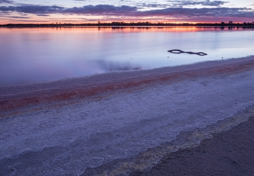 Sunset over salt lake, Victoria