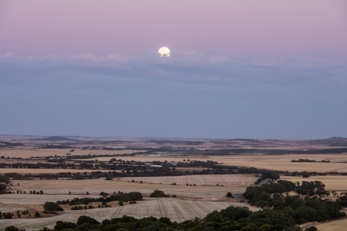 Super Moon over Chapman Valley Farms