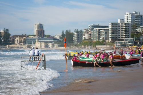 Surf boat racing carnival