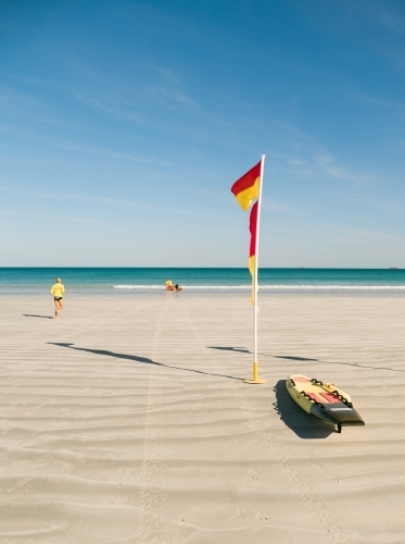 Surf Lifesavers and Flag on Cable Beach