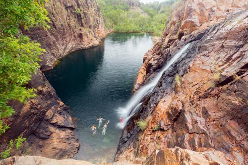 Swimming in Maguk Waterfall, Kakadu National Park