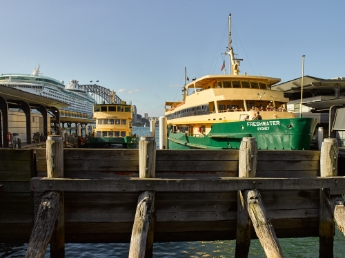 Ferries docked at circular quay