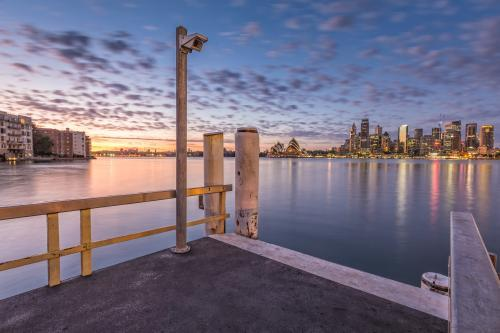 Sydney Harbour and City Skyline at Sunrise