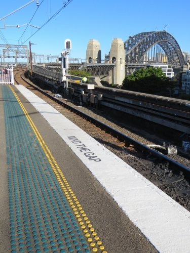 Sydney Harbour Bridge from Milsons Point station