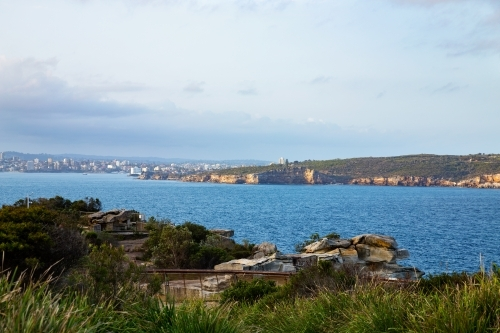Sydney Harbour with cliffs near North Head