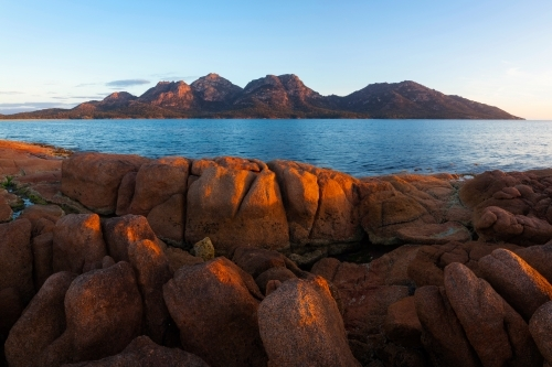 The Hazards viewed from Coles Bay - Freycinet National Park - Tasmania