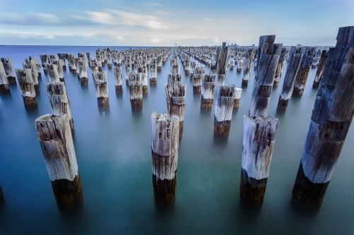 The iconic Princes Pier Pylons